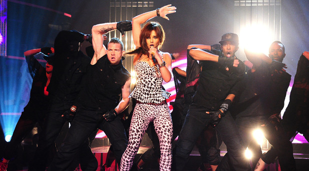 Cheryl Cole performing on the Graham Norton Show