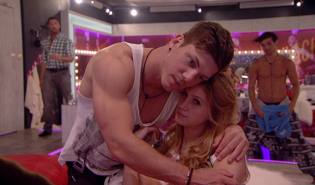 Big Brother 2012 Day 4: Ashleigh and Luke S hug.