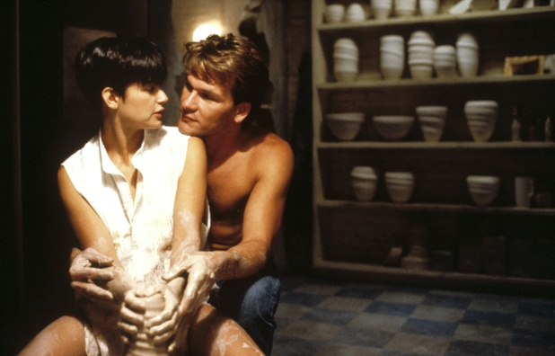 Ghost sex scene. 7) Ghost - Demi Moore and Patrick Swayze share an iconic ...