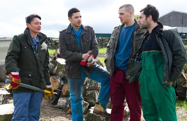 Alex tells Moira that Adam is doing a great job on the farm