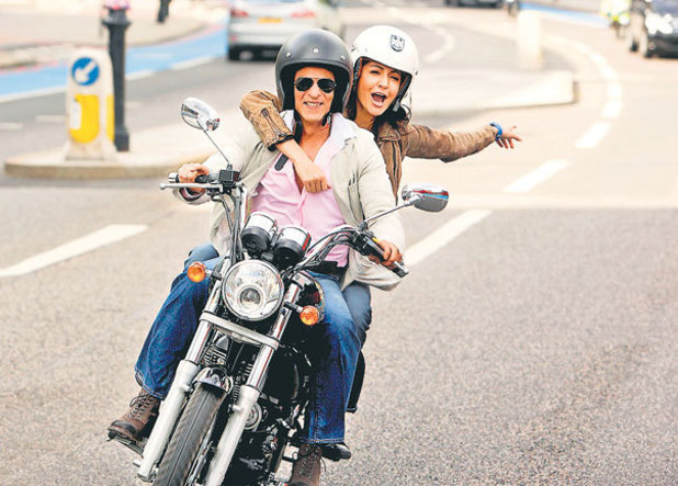 Anushka Sharma and Shah Rukh Khan on location.