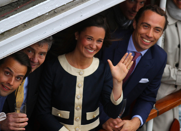 Michael, Pippa and James Middleton