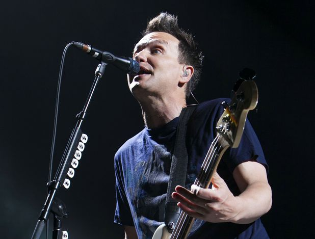 Blink 182 in concert at the O2 Arena, London.