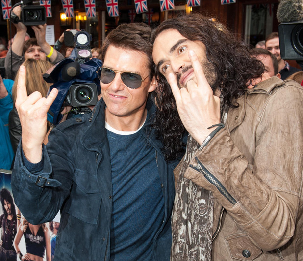 Rock of Ages UK Premiere: Tom Cruise and Russell Brand.
