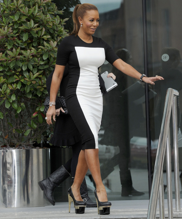 Mel B arrives for X Factor auditions in Manchester - June 5, 2012