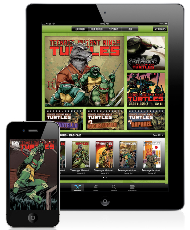 Teenage Mutant Ninja Turtles iOS app