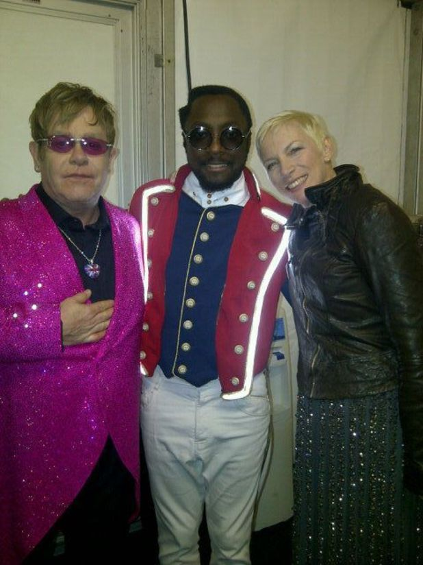 Elton John, will.i.am and Annie Lennox