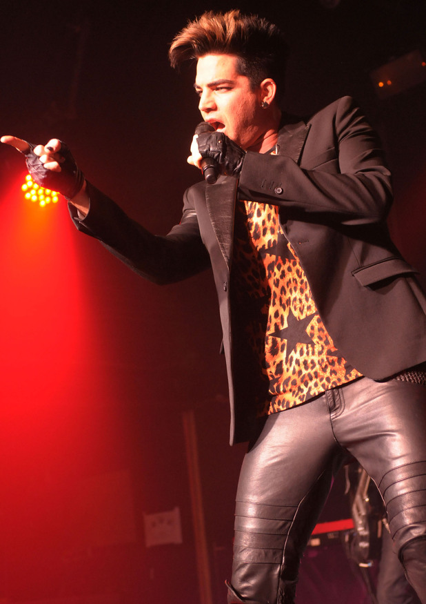 Adam Lambert performing at G-A-Y, London.
