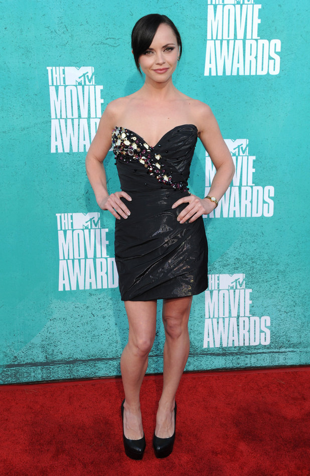 Christina Ricci on the red carpet at the MTV Movie Awards 2012