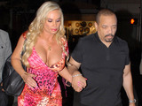 Ice -T and Coco leave Mastro's restaurant in Beverly Hills Los Angeles, California