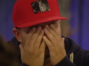 Big Brother Day 7: Chris reacts to the nominations announcement.