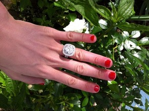 Peaches Geldof engagement ring