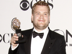 James Corden in the press room at the 66th Annual Tony Awards in New York