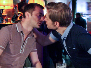 Aiden comes onto Marcus and moves in for a kiss