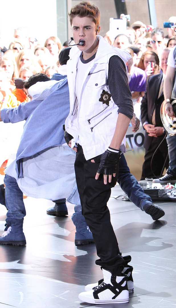 Justin Bieber performs live at Rockefeller Center as part of the 'Today' show's concert series.