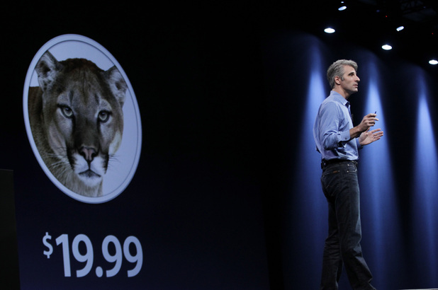 Apple WWDC 2012: Apple&#39;s Craig Federighi talks about the new Mountain Lion for Macs.