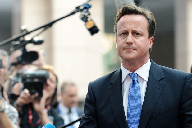 British Prime Minister David Cameron arrives for an EU summit at the EU Council in Brussels, Wednesday, May 23, 2012.