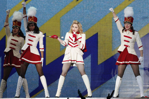 Madonna performing live at the Artemio Franchi stadium, italy.