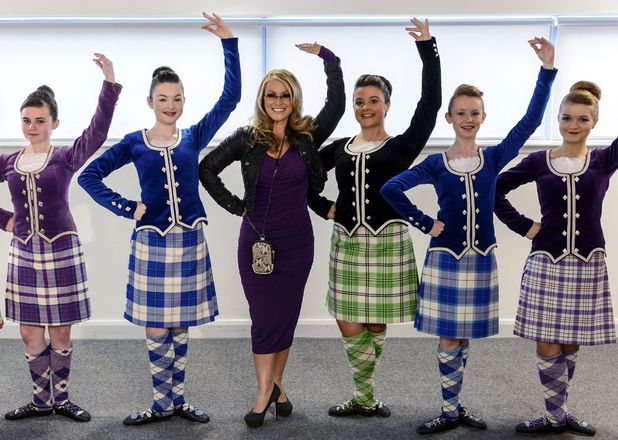 'The X Factor' Glasgow auditions: Guest Judge Anastacia with Scottish Dancers