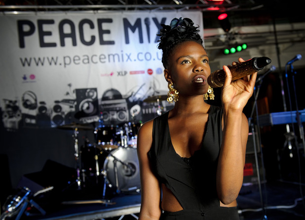 Noisettes singer Shingai Shoniwa at the launch of Peace Mix