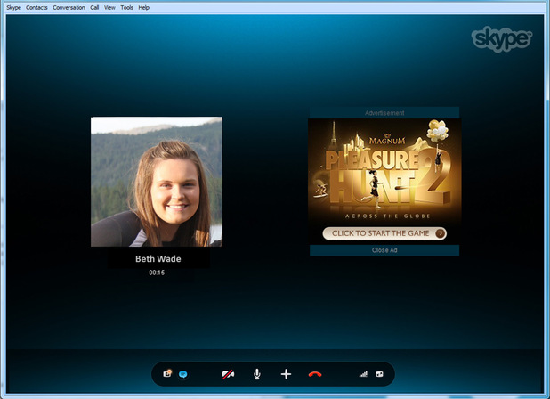 Skype ad screenshot