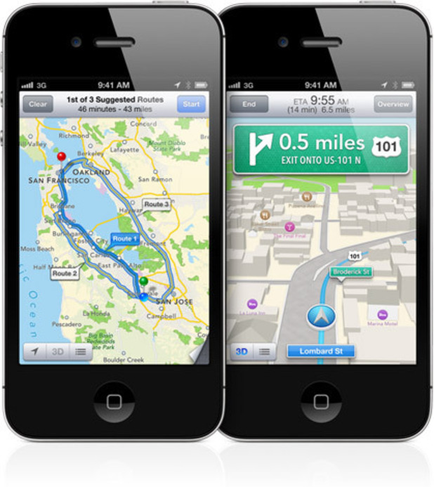 Apple WWDC 2012: Maps on the iPhone.