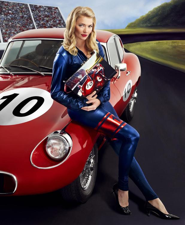 Jodie Kidd recreates image from Sky+ HD designer box