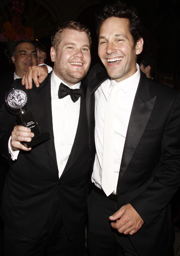 James Corden and Paul Rudd