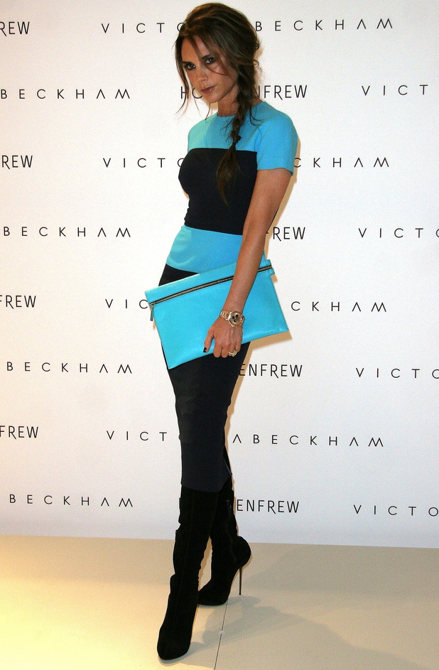 Victoria Beckham debuts her Fall/Winter 2012 collection in Canada.