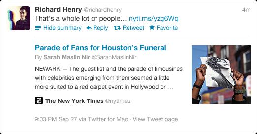 Twitter expanded tweet