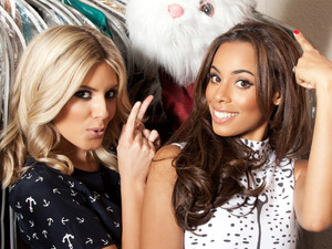 The Saturdays taking part in the Nintendo 3DS photography contest