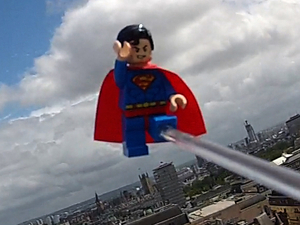 LEGO Superman flies above London for LEGO Batman 2 launch