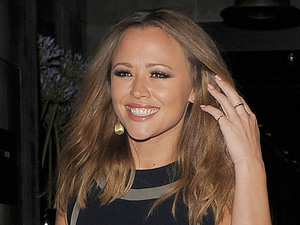 Kimberley Walsh leaving Hakkasan restaurant.