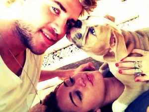 Liam Hemsworth, Miley Cyrus, twitter