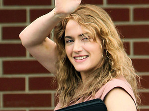 Kate Winslet on the movie set of 'Labor Day' Boston, Massachusetts