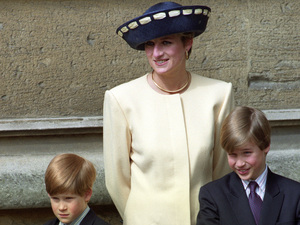 Prince William, Princess Diana, Prince Harry, 1990