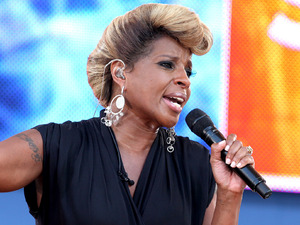 Mary J. Blige performs live in Central Park as part of Good Morning America&#39;s Summer Concert Series.