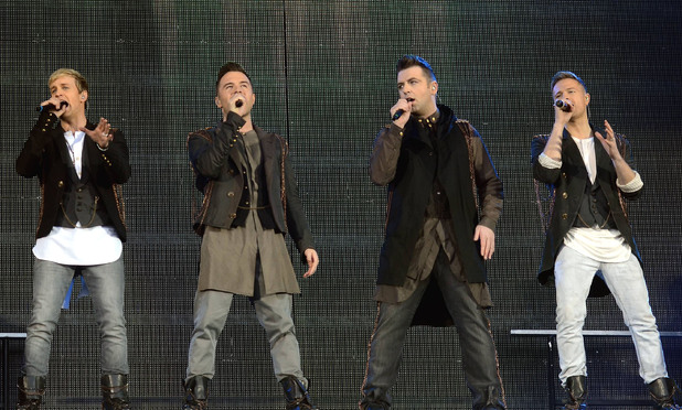 Westlife play their penultimate concert at Croke Park in Dublin, Ireland.