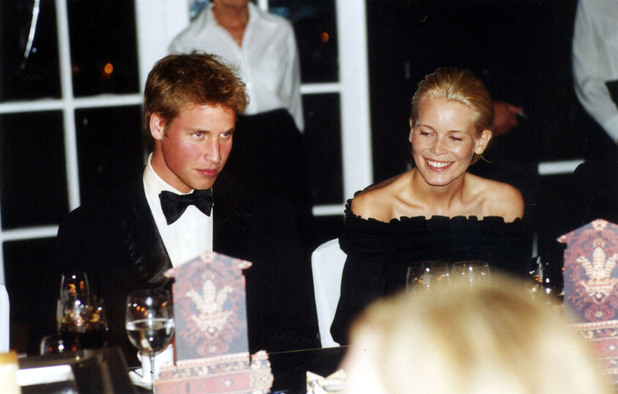 Prince William and supermodel Claudia Schiffer