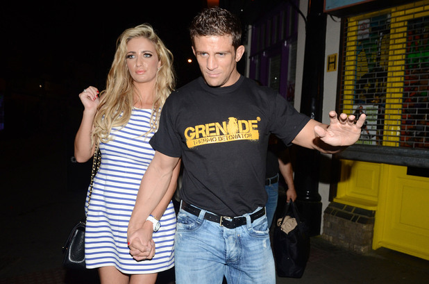 Chantelle Houghton and Alex Reid Shaka Zulu birthday celebration, held at Shaka Zulu in Camden - Departures London