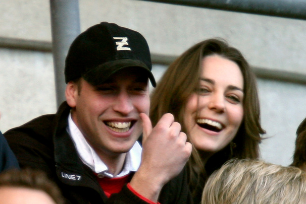 Prince William and his girlfriend Kate Middleton