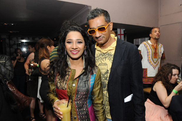 Tannishtha Chatterjee & Q during the London India Film Festival 2012