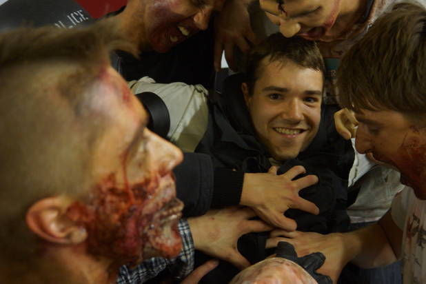 Paul Jones ravaged by zombies
