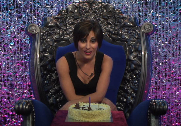 Big Brother Day 16: Lydia is given her birthday cake.