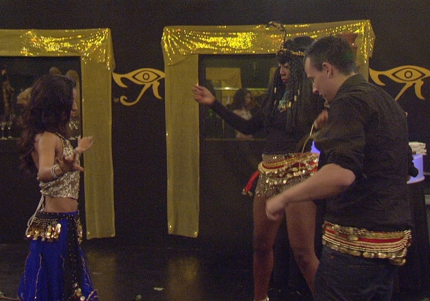 Big Brother Day 19: Belly dancing at the party.
