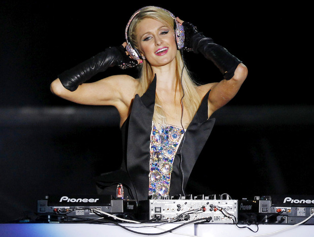 Paris Hilton DJ's at the Pop Music Festival, Sao Paulo, Brazil.