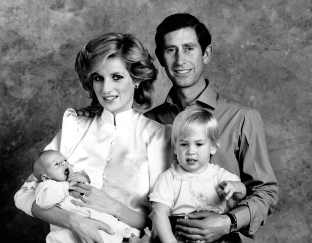 Princess Diana, Prince Harry, Prince Charles and Prince William