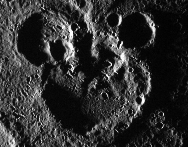 Mickey Mouse shaped crater on Mercury