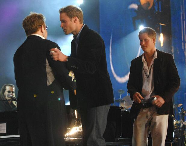 Prince William, Elton John, Prince Harry