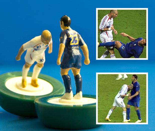 Zinedine Zidane headbutts Marco Materazzi - in Subbuteo